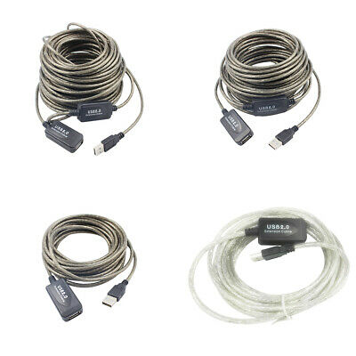 5M 10M 15M 20M High Speed USB 2.0 Male to Female Extension Cable Cord Extender