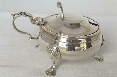 A Stunning Large Solid Sterling Silver Mustard Pot With Liner Birmingham 1960.