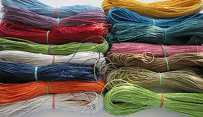 5 x 1m Lengths of 1mm Cotton Cord - Various Colours