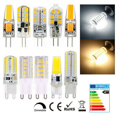 G4 G9 LED 3W 5W 6W 8W 12V 220V Dimmable COB Ampoule Remplacer Lampe Halogène
