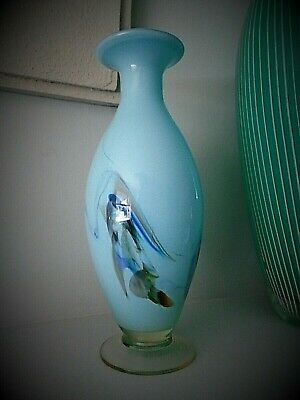 24cms HIGH 70s VINTAGE MURANO GLASS BALUSTER VASE.