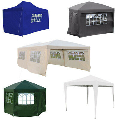 Outdoor Pop Up Gazebo Canopy Marquee Tent Party 2x2m, 2.5x2.5m, 3x3m,3x4.5m,3x6m