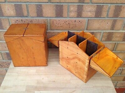 2 X Vintage Wooden 36 Slide Magazine Cartridge Holders, Slides, Collectable