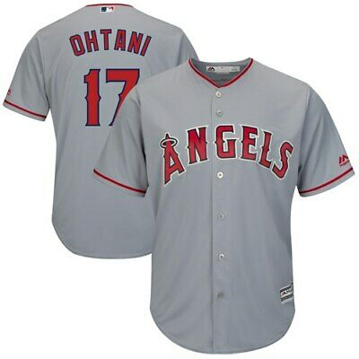 9fbaf20bcc7 Shohei Ohtani Los Angeles Angels Majestic Cool Base Player Jersey - Gray