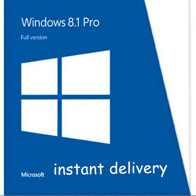 Windows 8.1 Pro Product Key for Activation 32/64 bit instant delivery