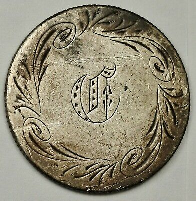 "1861 Liberty Seated Quarter.  Love Token.  ""C""  135971"