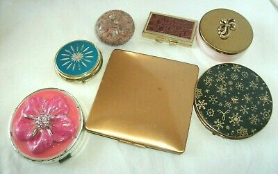 Vvintage Lot Compacts,Elgin,Stratton,Saks,Pill Boxes, Germany,India, Cup Hong Ko