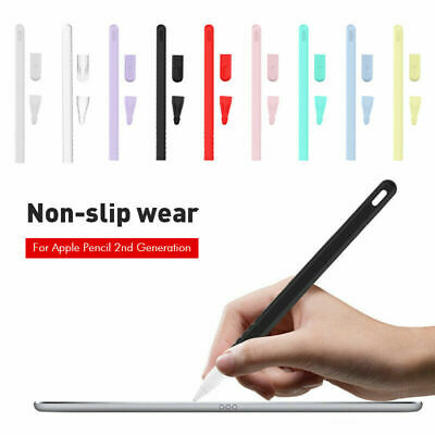For Apple Pencil 2nd Generation (2018) Silicone Protective Case Cover Holder Pen