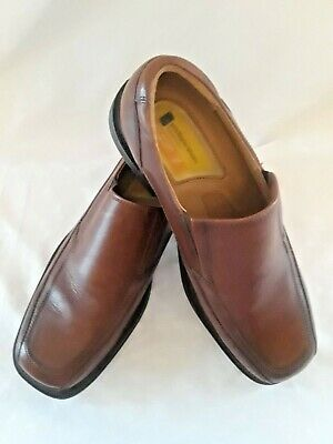 7ac9c81434a DOCKERS Pro Style Mens 10.5 M Slip on Brown Leather Loafers All Motion  Comfort