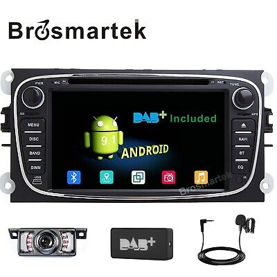 Android 9.1 Headunit Car Radio Stereo BT SatNav Ford Focus Mondeo S/C-Max Galaxy