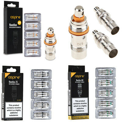 5x BVC Replacment Coils Heads For Aspire² Nautilus | Nautilus AIO | Nautilus 2S