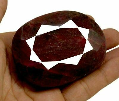 1752ct Big Natural Museum Size Pear Shape Blood Red Ruby Loose Gemstone on ebay