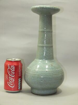 A Chinese  Celadon Porcelain Vase With Crackled Glaze 20Th Century