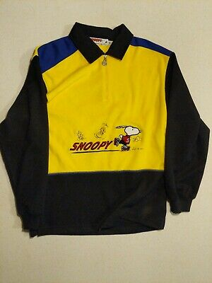 Vintage Snoopy Jumper Colour Blocking size S embroidered graphic 1990s