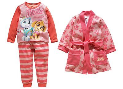 Nickelodeon Paw Patrol Pink Robe/Dressing Gown and Pyjamas set age 2-3 YearsBNWT