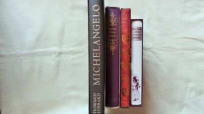 4 Folio Society Books With Inserts