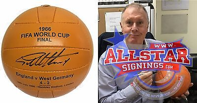 Sir Geoff Hurst England Signed 1966 World Cup Final Ball See Proof Football