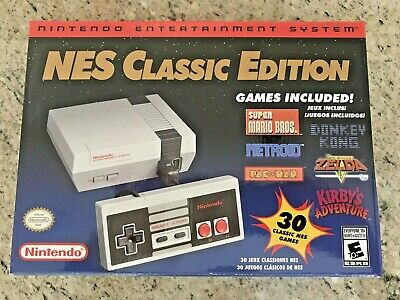 Authentic Mini NES Nintendo Classic Entertainment System with 30 Games