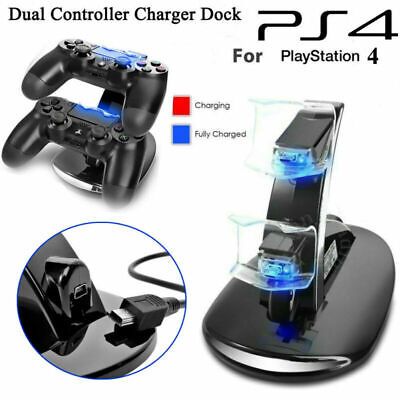 LED Dual Controller Ladegerät Dock Station Stand Lade Für Playstation 4 PS4