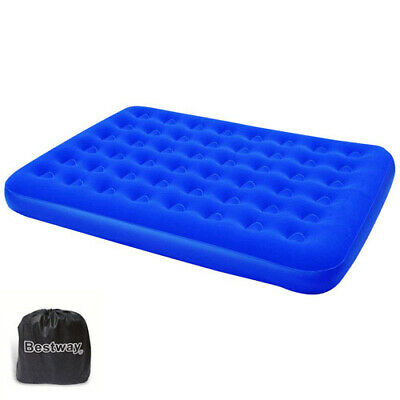 Colchon Camping Inflable Doble 191x137x22 cm.