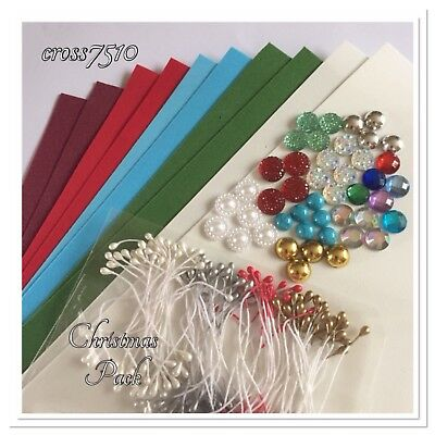 FOAMIRAN Pack 0.6mm 10 A4 Sheets Christmas colours Stamens and Centers