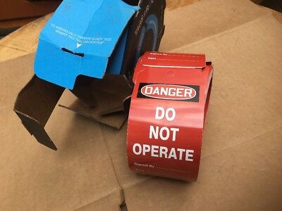 """TAR455 Lockout Tags Accuform Signs Tags By-The-Roll Legend """"DANGER DO NOT OP…"""