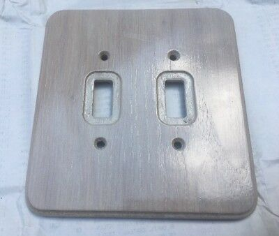 Switch Plate Cover Wood Finished Dual Toggle New Old Stock  Electrical Outlet