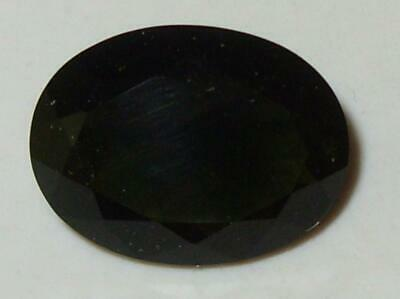 7.23ct Faceted TOP QUALITY Natural Czechoslovakia Moldavite Oval Cut 16x12mm WoW