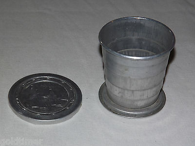 Vintage Made In Usa Aluminum Metal Sailing Ship Collapsable Travel Cup