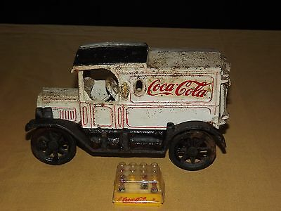 Vintage Soda Advertising Coca Cola Cast Iron Metal Truck