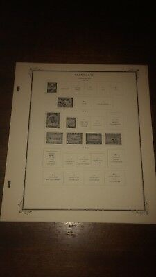 Scott Specialty Series Greenland Stamp Album Pages/Excellent!