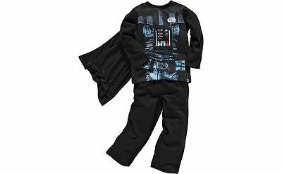 Darth Vader Star Wars Novelty PJs pyjamas With Cape size 3-4 new with tabs