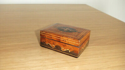 Vintage Mixed Inlaid Wood Small Decorative Wooden Trinket Box