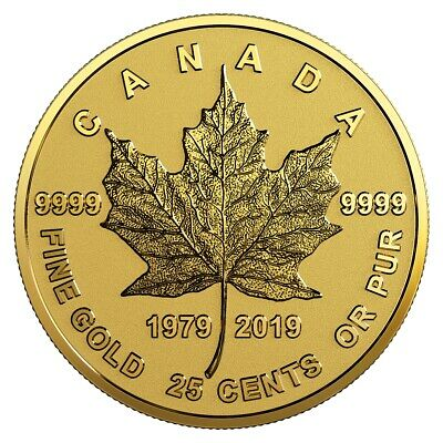 40th Anniversary of the GML - 2019 Canada 25 cent Fine Gold Coin