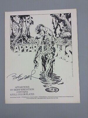 BERNIE WRIGHTSON APPARITIONS Portfolio, Limited Signed, 1978 4 Full Color Prints