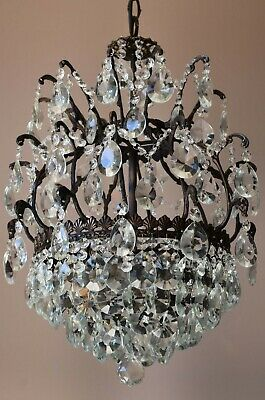 Antique Vintage Crystal Chandelier, French Home Ceiling Lighting Pendant Lamps