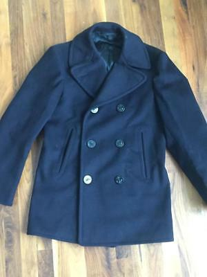 vtg WWII Navy Peacoat KERSEY Wool 1930s Small XS 36