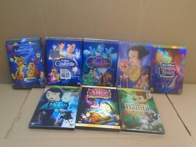 Lot Of 8 Disney Dvds Disc 2 *only -Aladdin -Cinderella -Snow White -Bambi ((