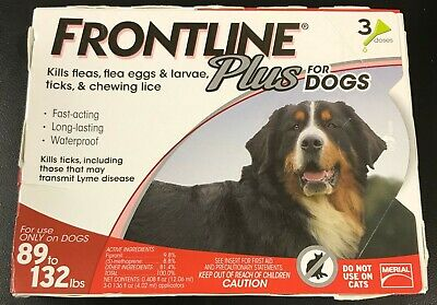 Frontline Plus for DOGS 89-132lbs (3 Doses) #7308