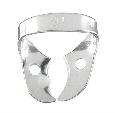 Rubber Dam Clamp #31 Upper Molars Stainless Steel Pack of 2