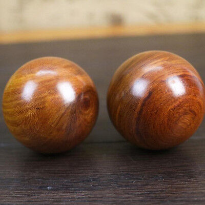 1Pc Wooden Ball Exercise Baoding Ball Massage Stress Relief Relaxation Ball DB