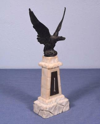 *French Antique Thermometer w/Bronzed Spelter Eagle on Marble Base