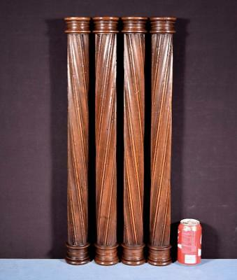 "*27"" French Antique Solid Wanut Posts/Pillars/Columns Salvage"