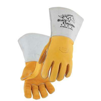 Black Stallion 850 Premium Grain Elkskin Stick Welding Gloves, Medium