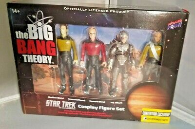 The Big Bang Theory Star Trek The Next Generation Figures Set 3 3/4 SDCC 2017