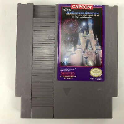 Disney Adventures in the Magic Kingdom (NES, 1990) Authentic-Tested and Works