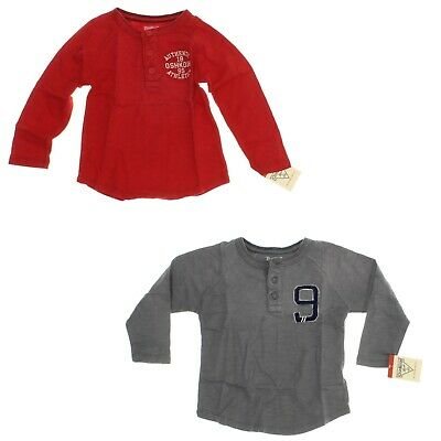 a00d4219b OSHKOSH B'GOSH BOYS' Long Sleeve Henley Shirt - Select size/color ...