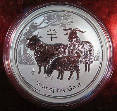 """2015 Silver Australian """"Year of the Goat"""" Lunar - 1 oz. Perth Mint Coin Sealed"""