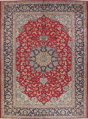 VINTAGE Traditional Floral Persian Area Rugs Large Oriental Hand-made RED 10x13