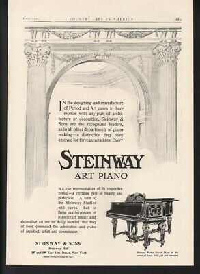 1909 Steinway  Piano Music Dance Parlor Grand Decor Victorian Gilt Luxury 22569